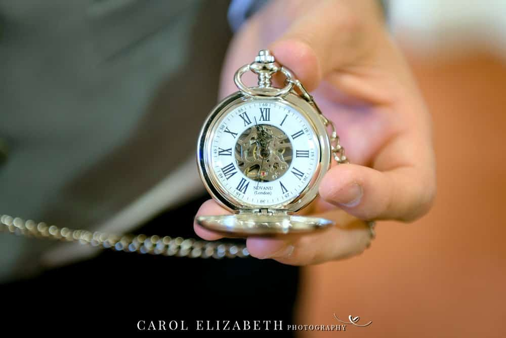 Groom pocket watch
