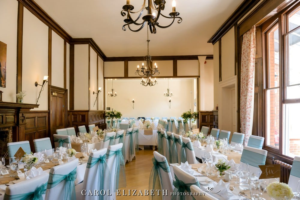 Wedding reception room at Coseners House in Abingdon