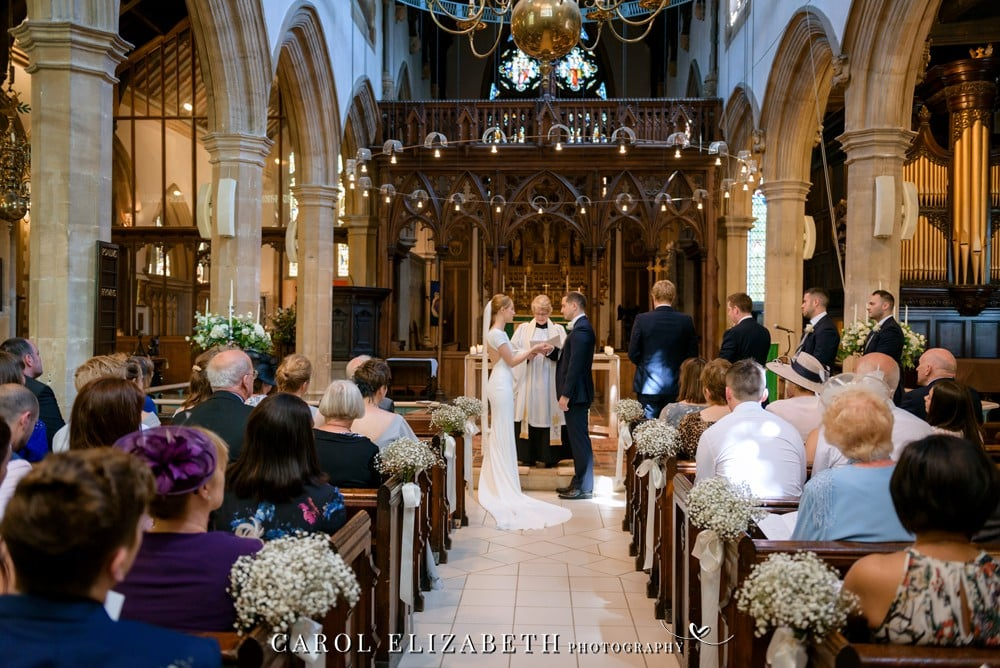 Church wedding in Abingdon by Carol Elizabeth Photography