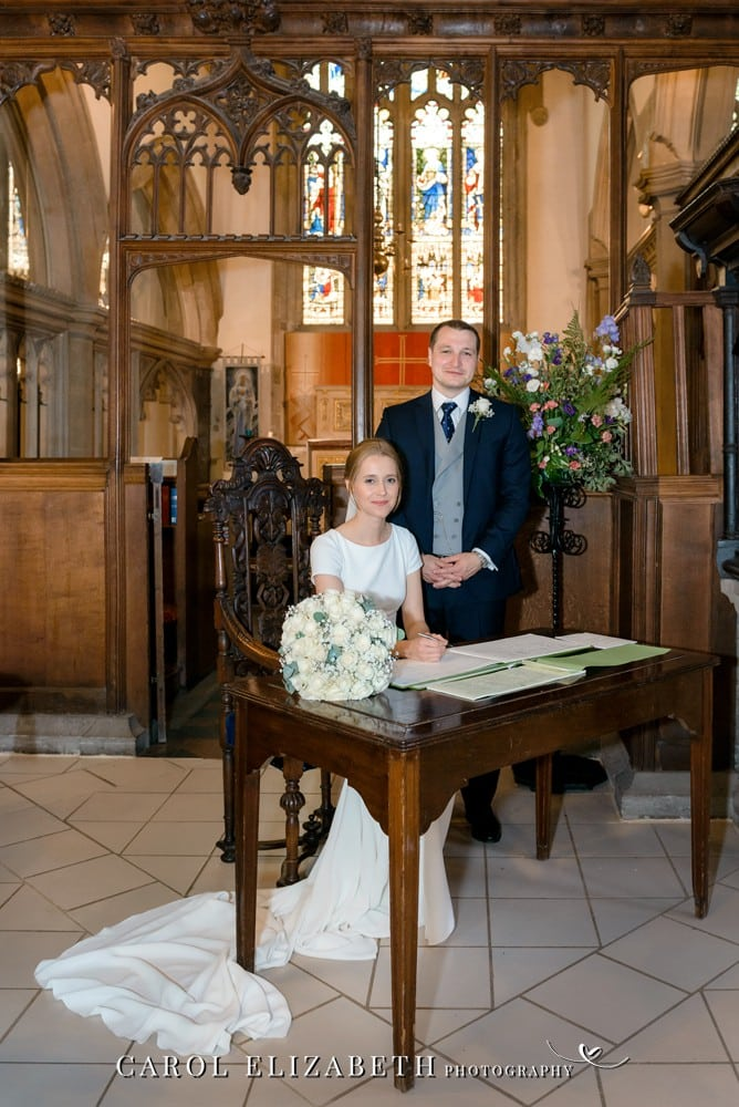 Church weddings in Abingdon and Oxfordshire by Carol Elizabeth Photography