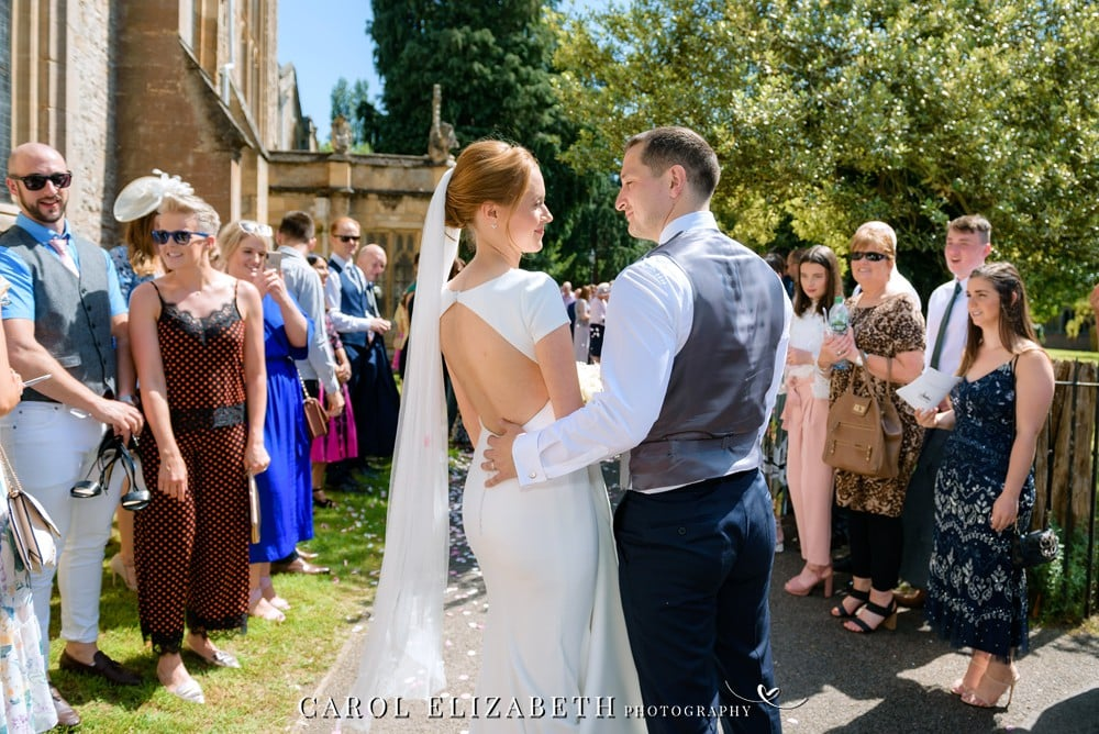Wedding photographer in Abingdon at St Helens Church