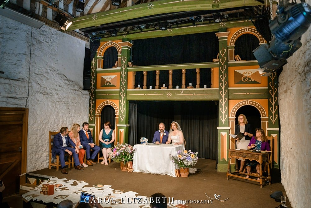 Abingdon Unicorn Theatre wedding ceremony in Oxfordshire